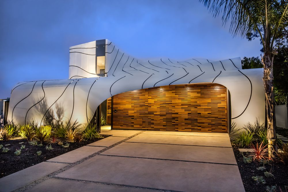 Come un onda una casa sulla spiaggia della california che for Disegni moderni della casa sulla spiaggia
