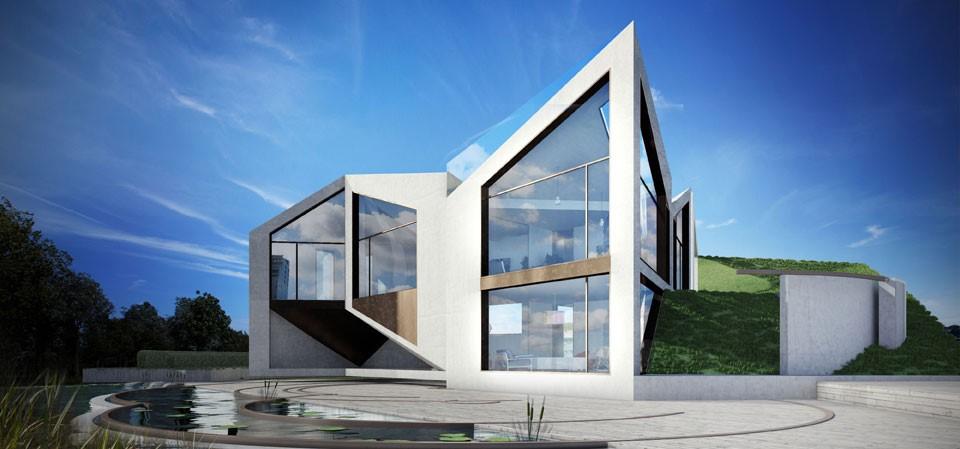 La casa origami si trasforma in base alle stagioni