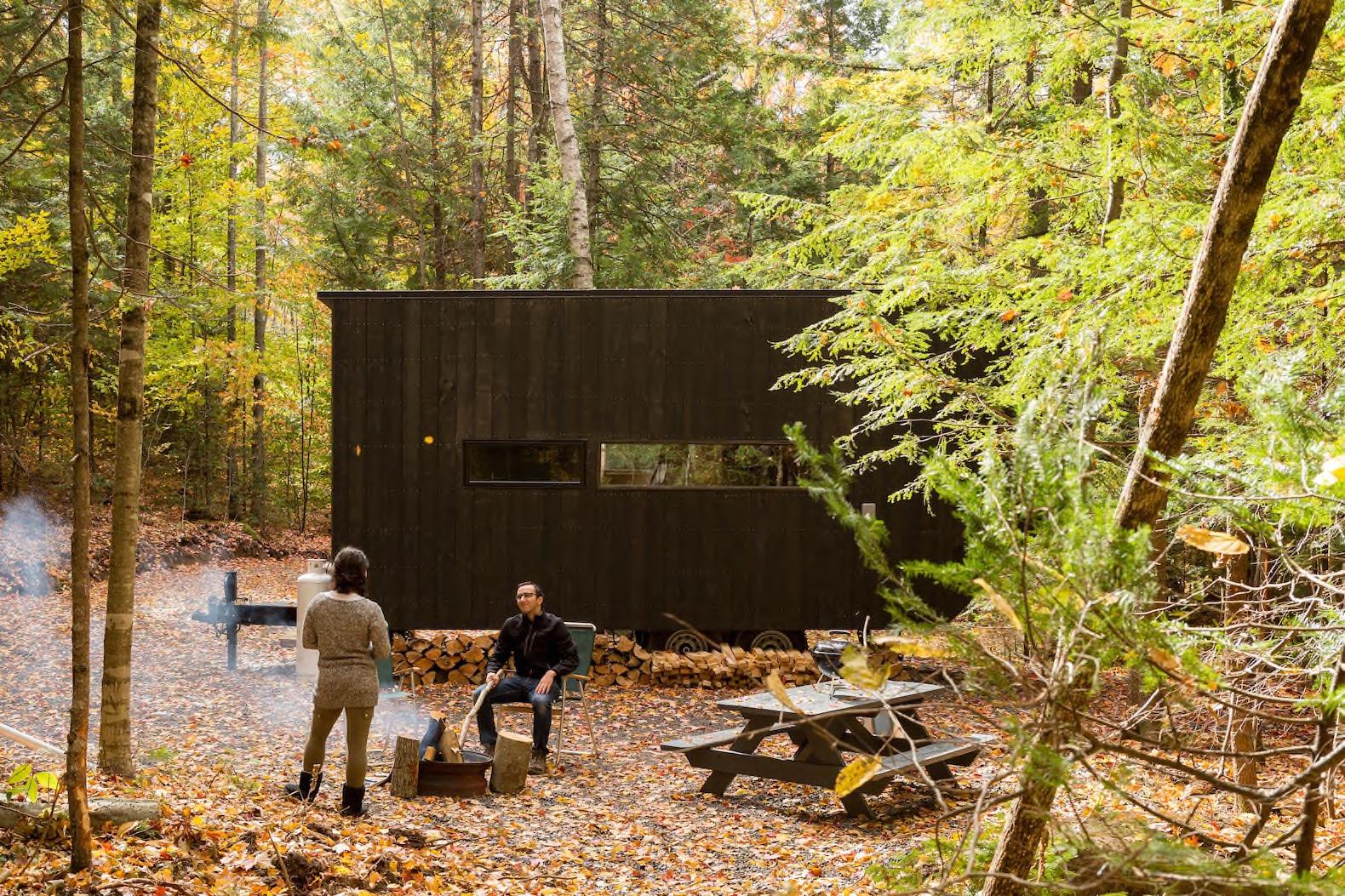 Minicase nascoste nei boschi per spegnere il cellulare Getawaycabins com