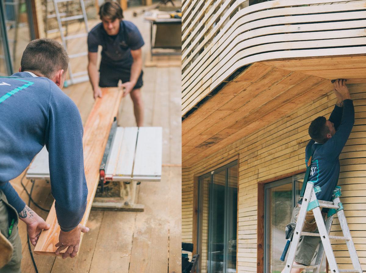 Tom Raffield ha costruito la casa insieme alla moglie Danielle e l'aiuto di amici e famigliari