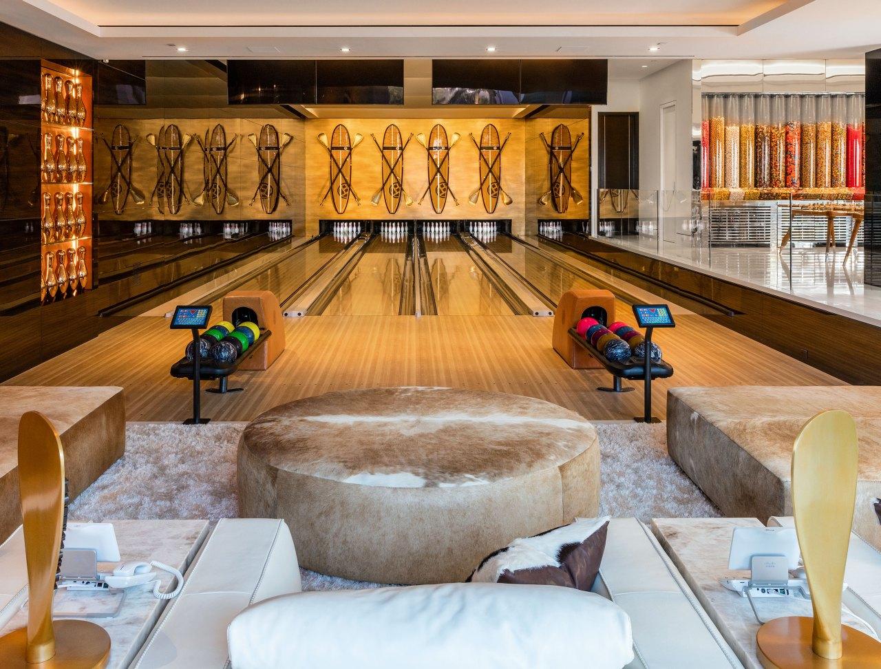 La sala da bowling