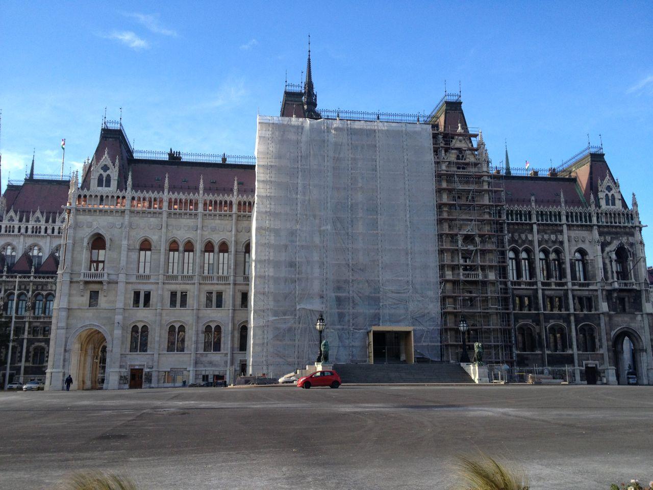 Sede del Parlamento a Budapest (Ungheria=