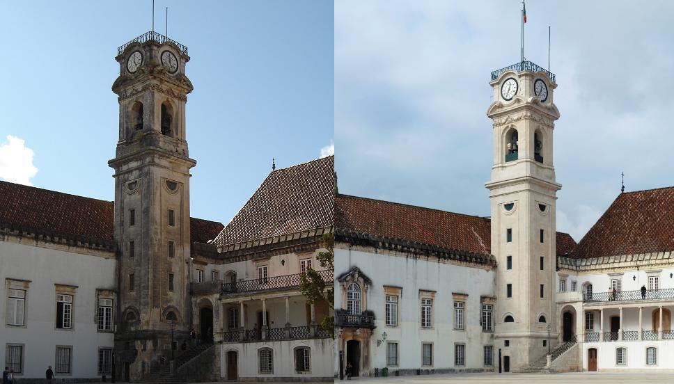 Torre e Cabra dell'Univesità di Coimbra (Portogallo)