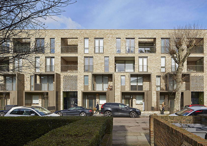 Ely Court a Londra, Gran Bretagna / Alison Brooks Architects. @Paul Riddle
