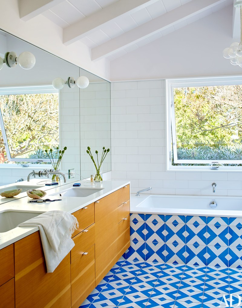 Un bagno / Arquitectural Digest/Trevor Tondro