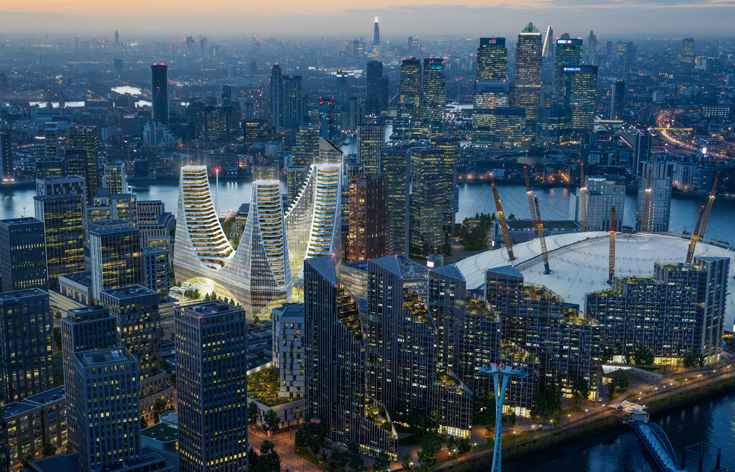 Progetto Peninsula Place di Santiago Calatrava