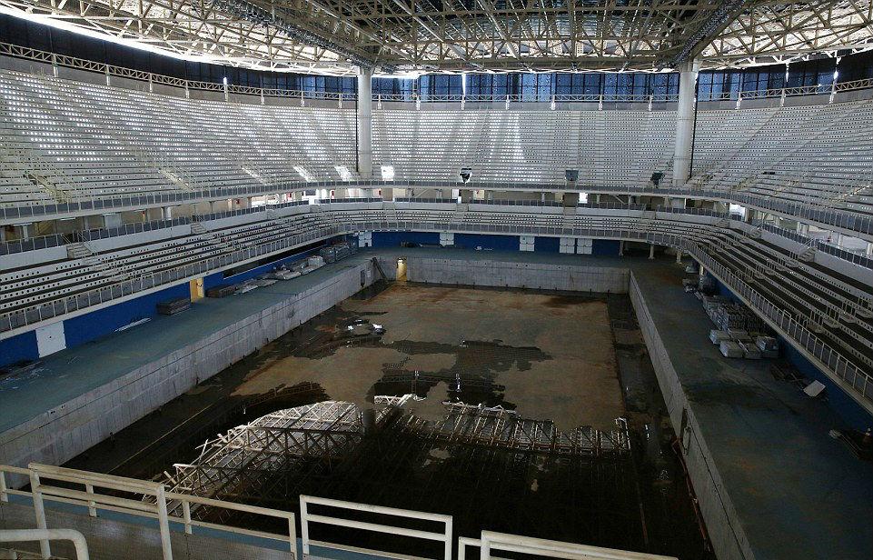 Lo spazio ospita ora strutture abbandonate e fatiscenti / Daily Mail
