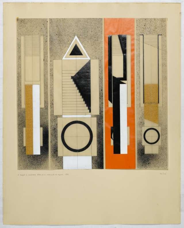 Il triangolo in architettura. Studio per il Monumento di Segrate, 1967 / © Eredi Aldo Rossi - courtesy Fondazione Aldo Rossi