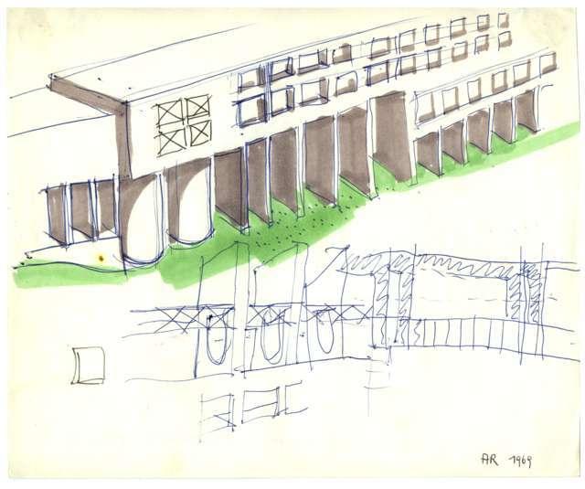 Studio per il quartiere Gallaratese, 1969 / © Eredi Aldo Rossi - courtesy Fondazione Aldo Rossi