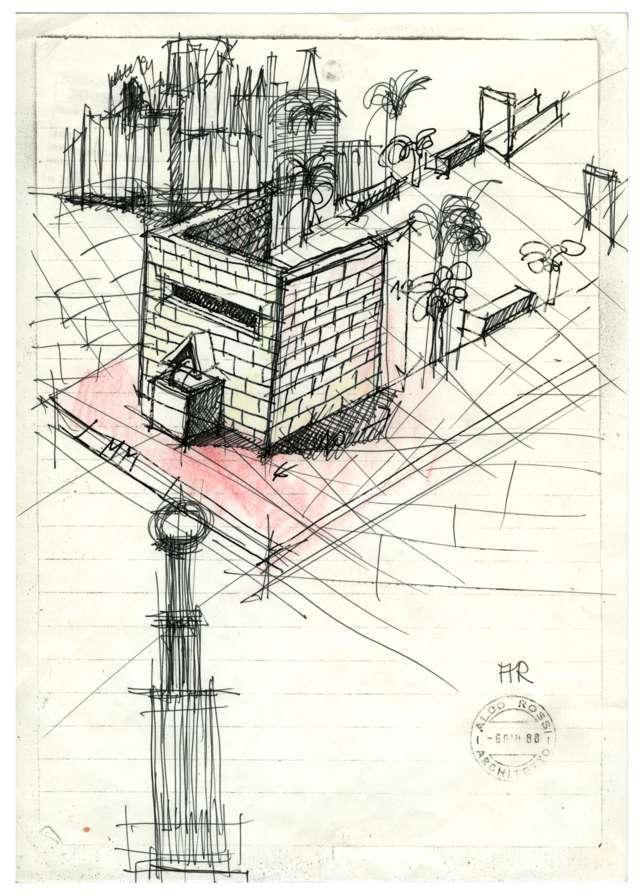 Senza titolo, 1988 / © Eredi Aldo Rossi - courtesy Fondazione Aldo Rossi
