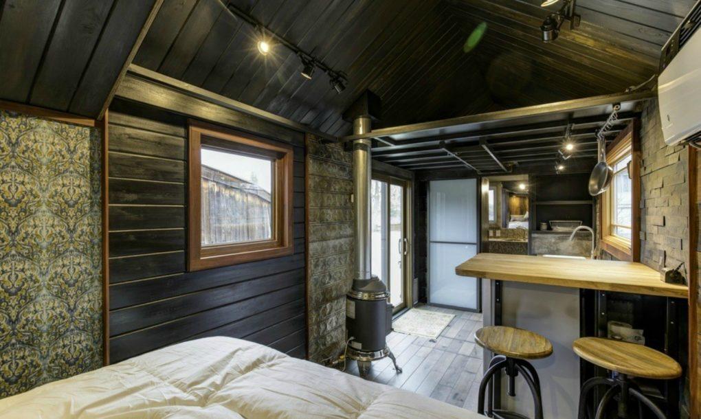 L'esterno della casa è in legno di pino e cedro / inhabitat