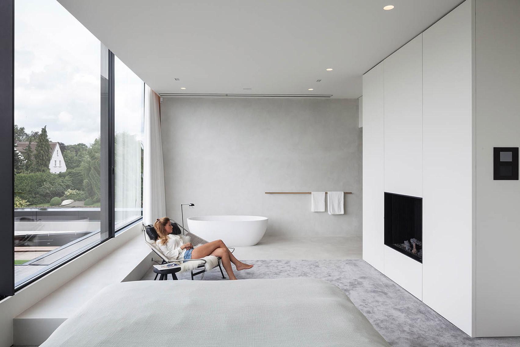 Un dettaglio dell'ambiente interno / Govaert & Vanhoutte Architects