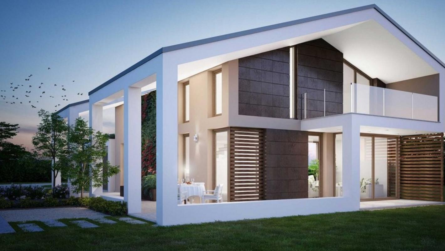 Immagini case belle esterno case moderne casa esterno classico con mattoni tagliati portico - Case moderne esterni ...