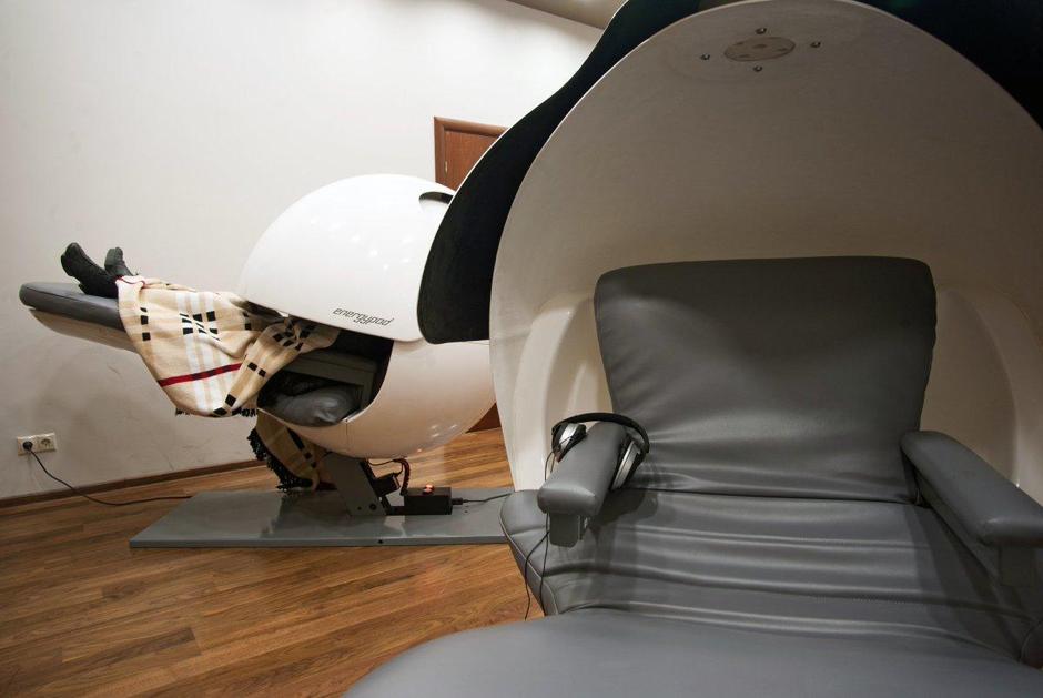 Sedili capsula per isolarsi dall'esterno