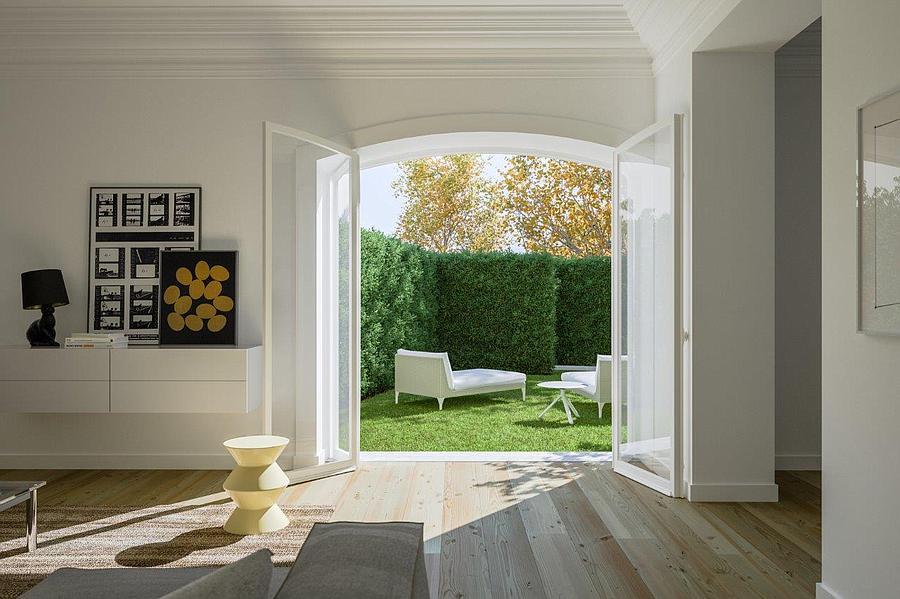 Un dettaglio della casa / Porta da Frente
