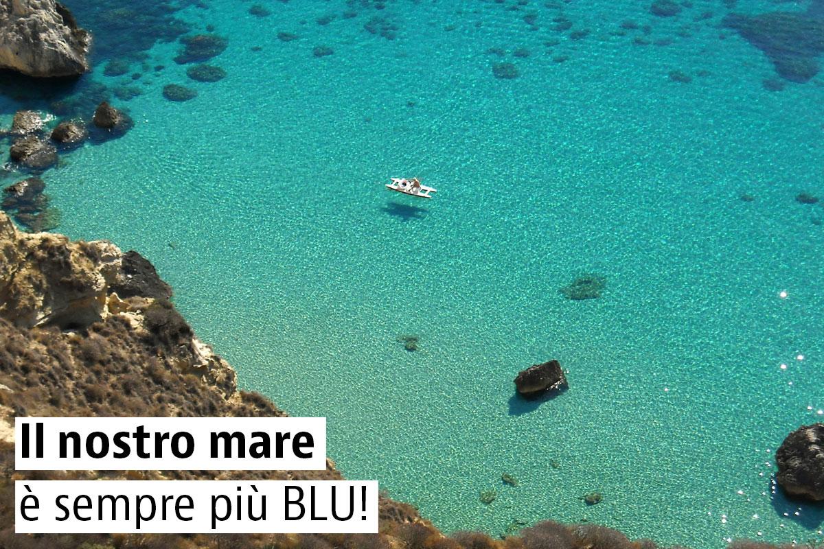 Il nostro mare è sempre più blu!