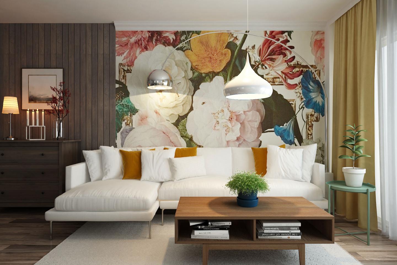 Pittura o carta da parati la scelta migliore per il tuo for Carta parati soggiorno