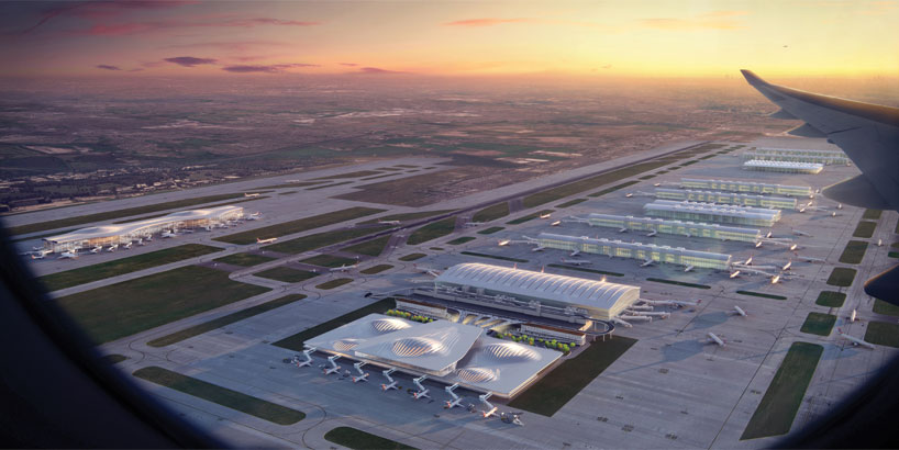 Ampliamento dell'aeroporto di Heathrow a Londra / Zaha Hadid Architects/Design Boom