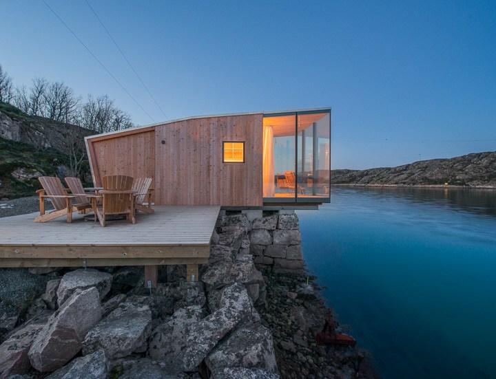 Un piccolo resort tra le isole di norvegia per ammirare l for Il piccolo hotel progetta le planimetrie