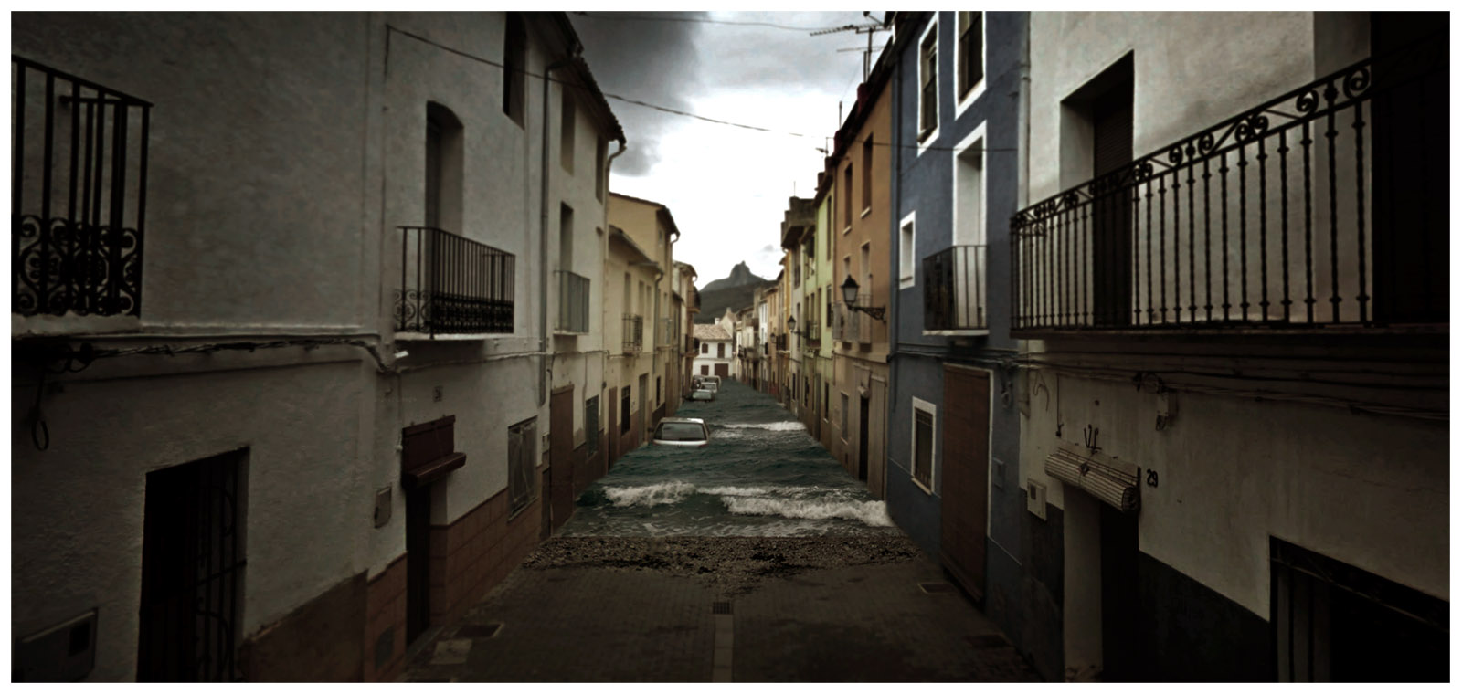 cinemascapes: my street view edition - Spanish floods / Aaron Hobson / Aaron Hobson