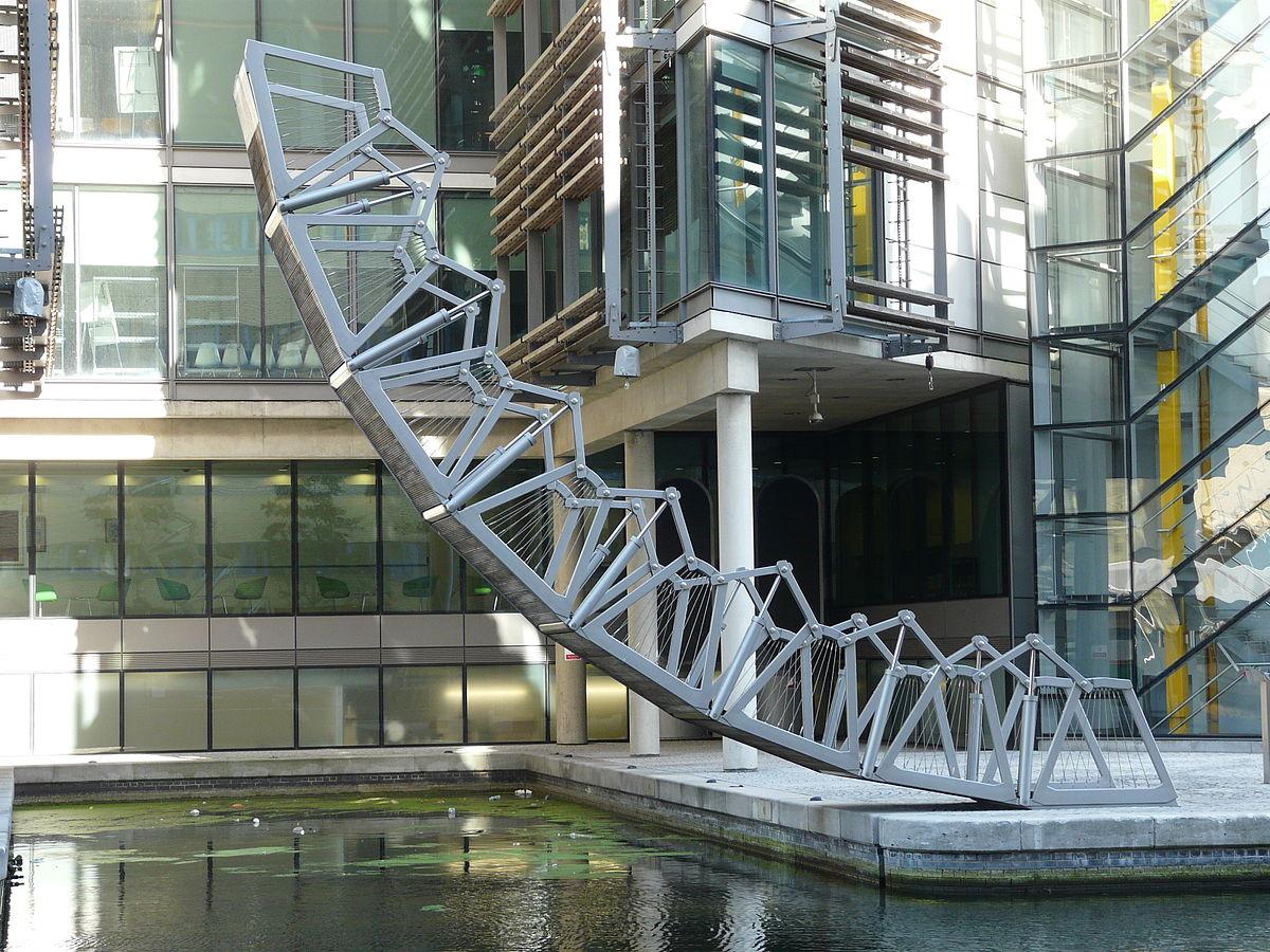 The Rolling Bridge, di Thomas Heatherwick. Paddington (Inghilterra)