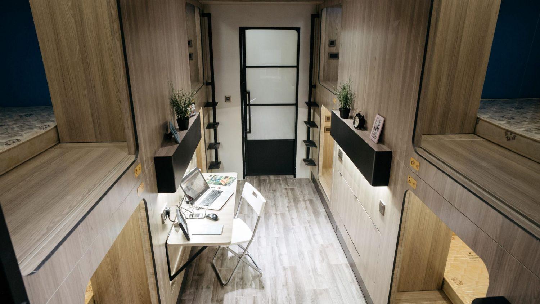 Uno spazio privato per dormire tra i 7 ei 10 metri quadrati per circa 900 euro al mese / Bloomberg