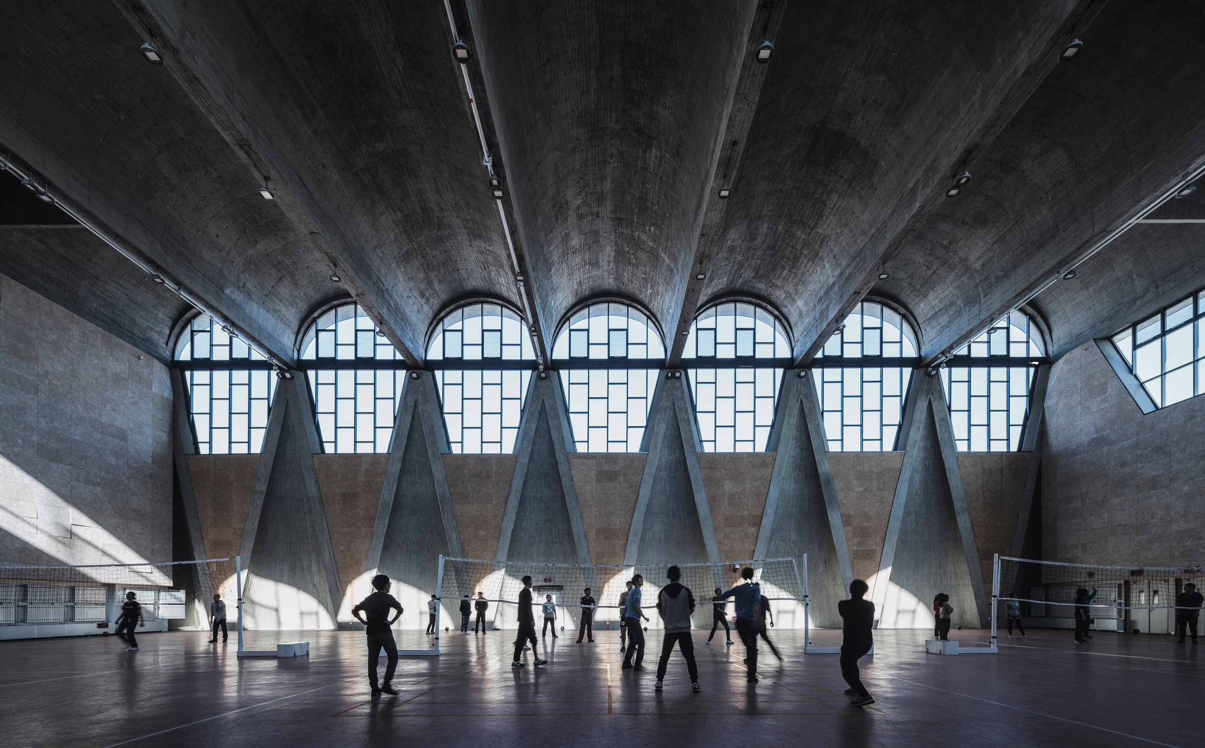 Gymnasium of the New Campus of Tianjin University, China, by Atelier Li Xinggang