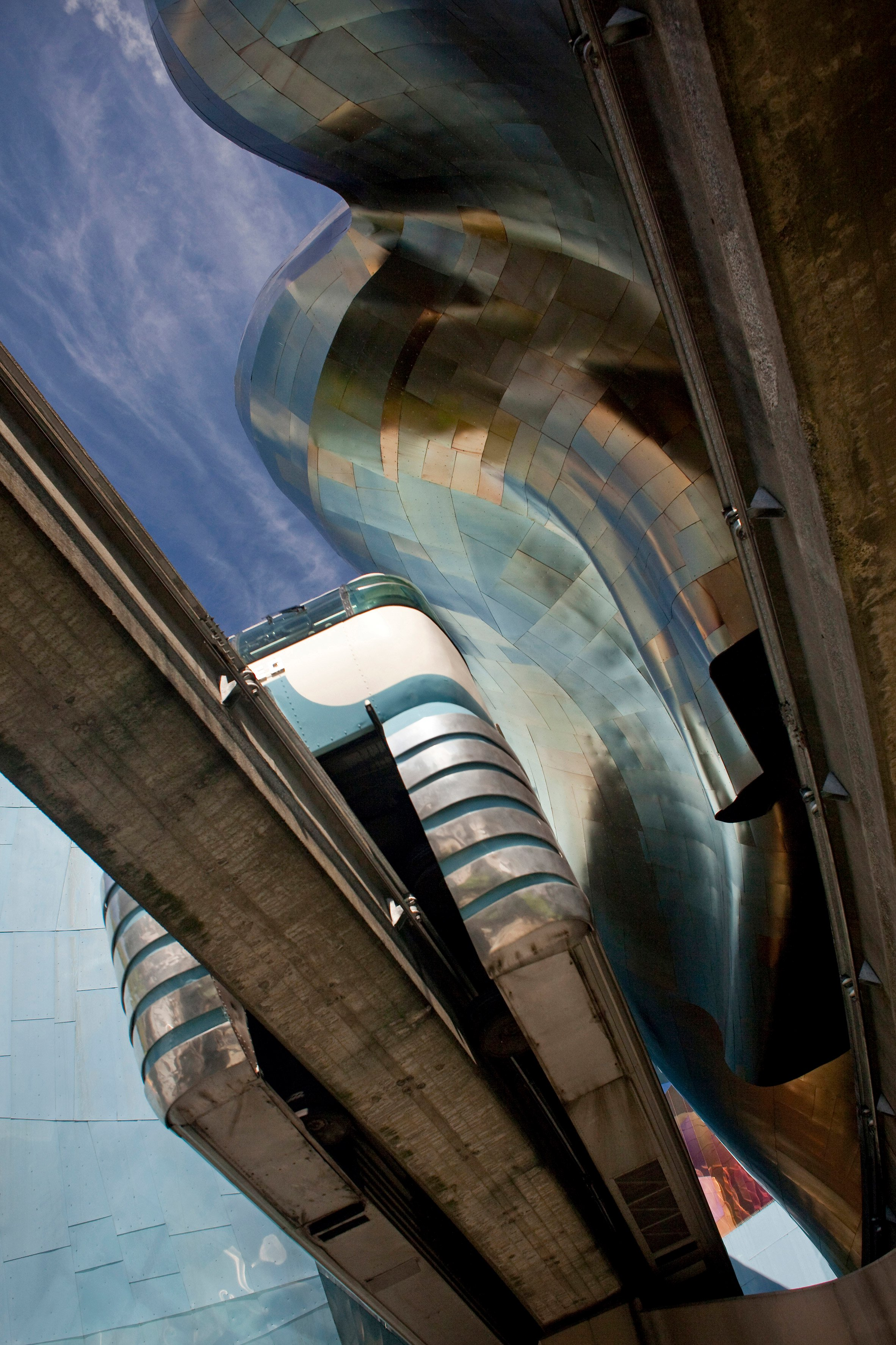 Museum of the Pop Culture (formerly known as the EMP Museum), Seattle, USA, by Frank Gehry