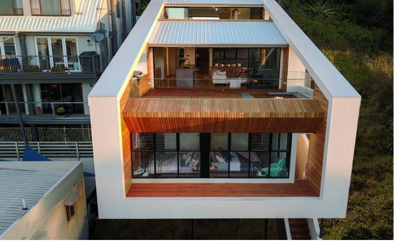 Una casa con tre altezze