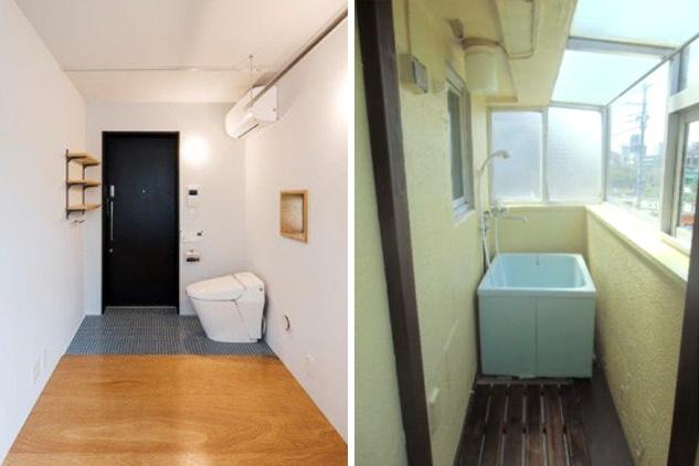 wc all ingresso e vasca in terrazza sono cos i