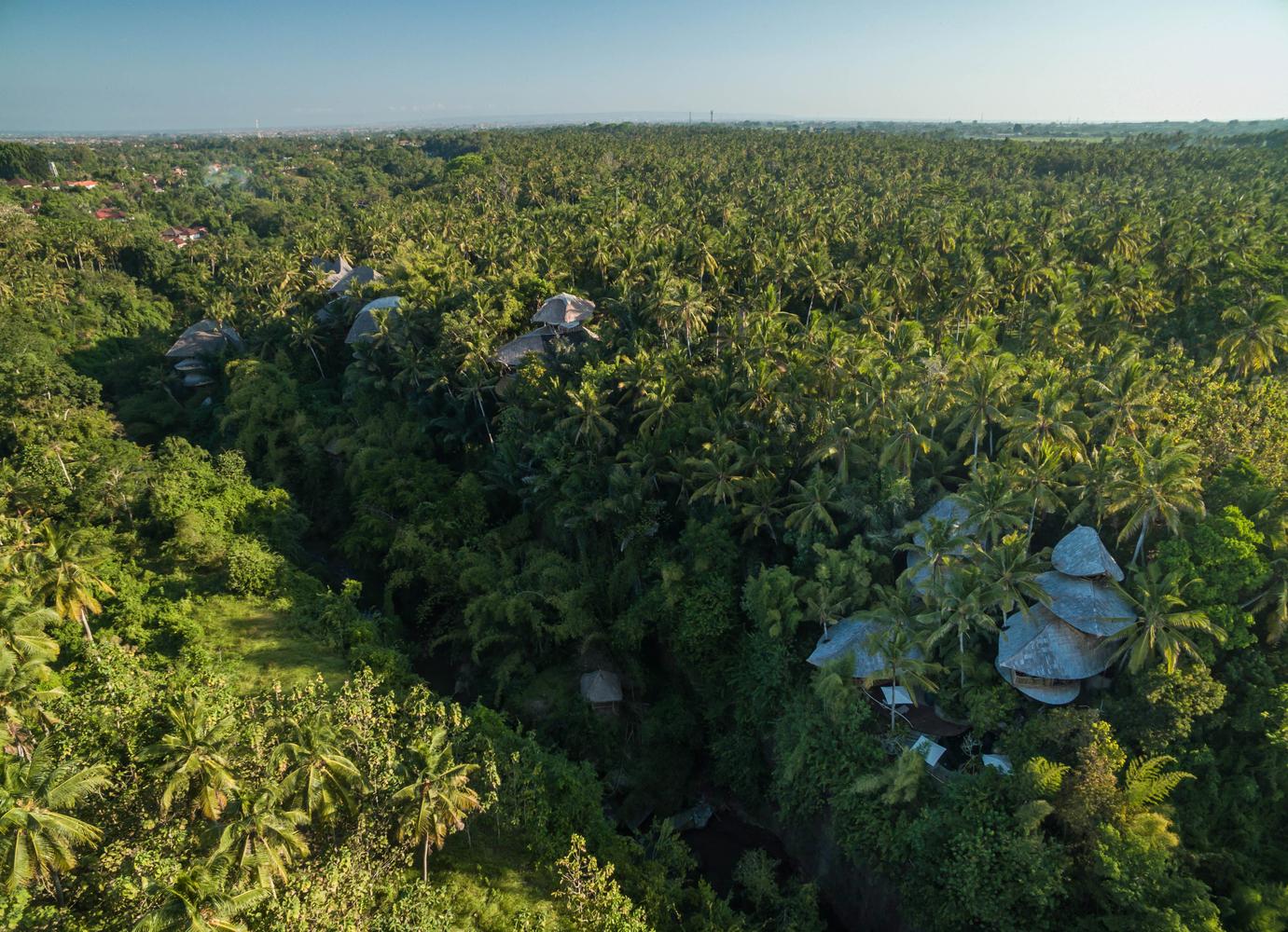 Green Village si trova nella foresta di Ubud, un'isola di Bali