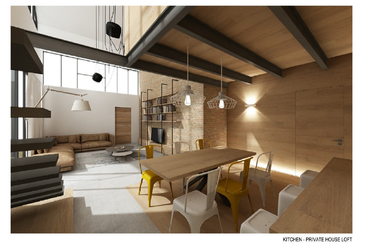 Riqualificazione immobiliare ricavare due loft di design for Open space planimetria del condominio