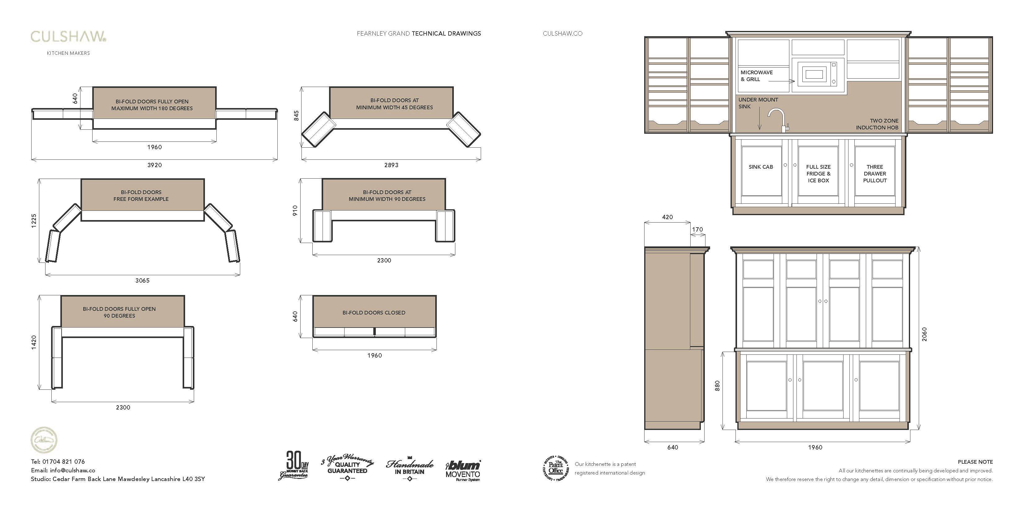 Come è costituita la cucina-armadio / Fuente: culshaw
