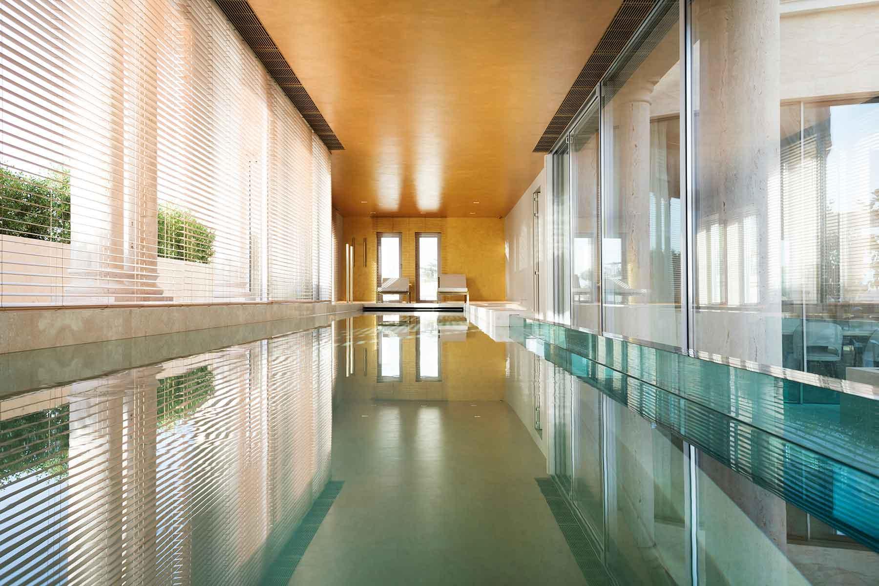 Per quando fa freddo, la piscina interna