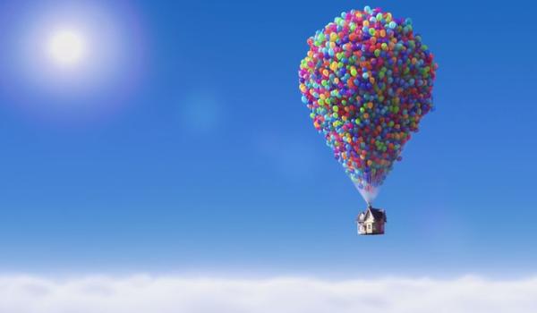 """la casa volante di """"up"""""""