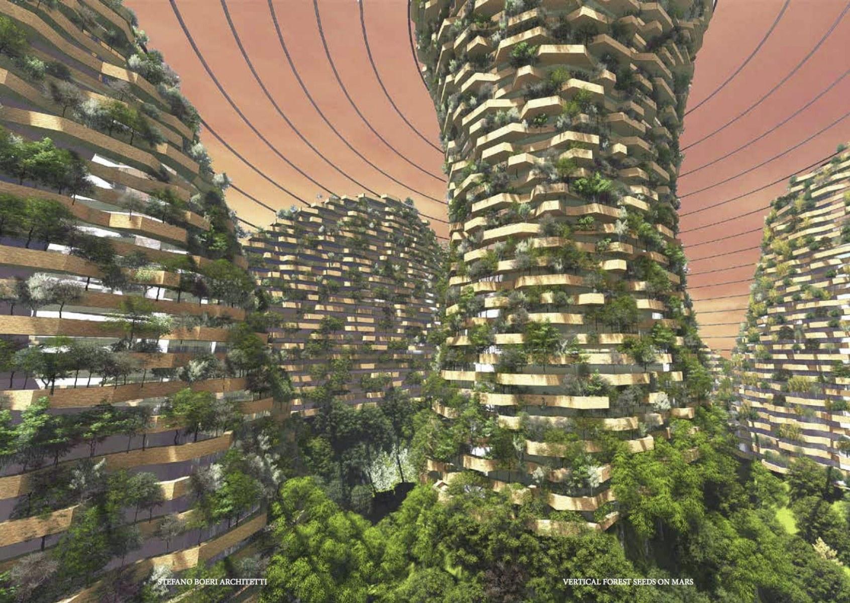 Bosco verticale di semi su Marte /  Stefano Boeri Architetti