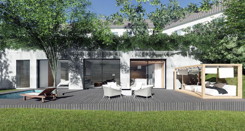 Quel che si vede non una semplice piscina l ingresso - Come disegnare una casa con giardino ...