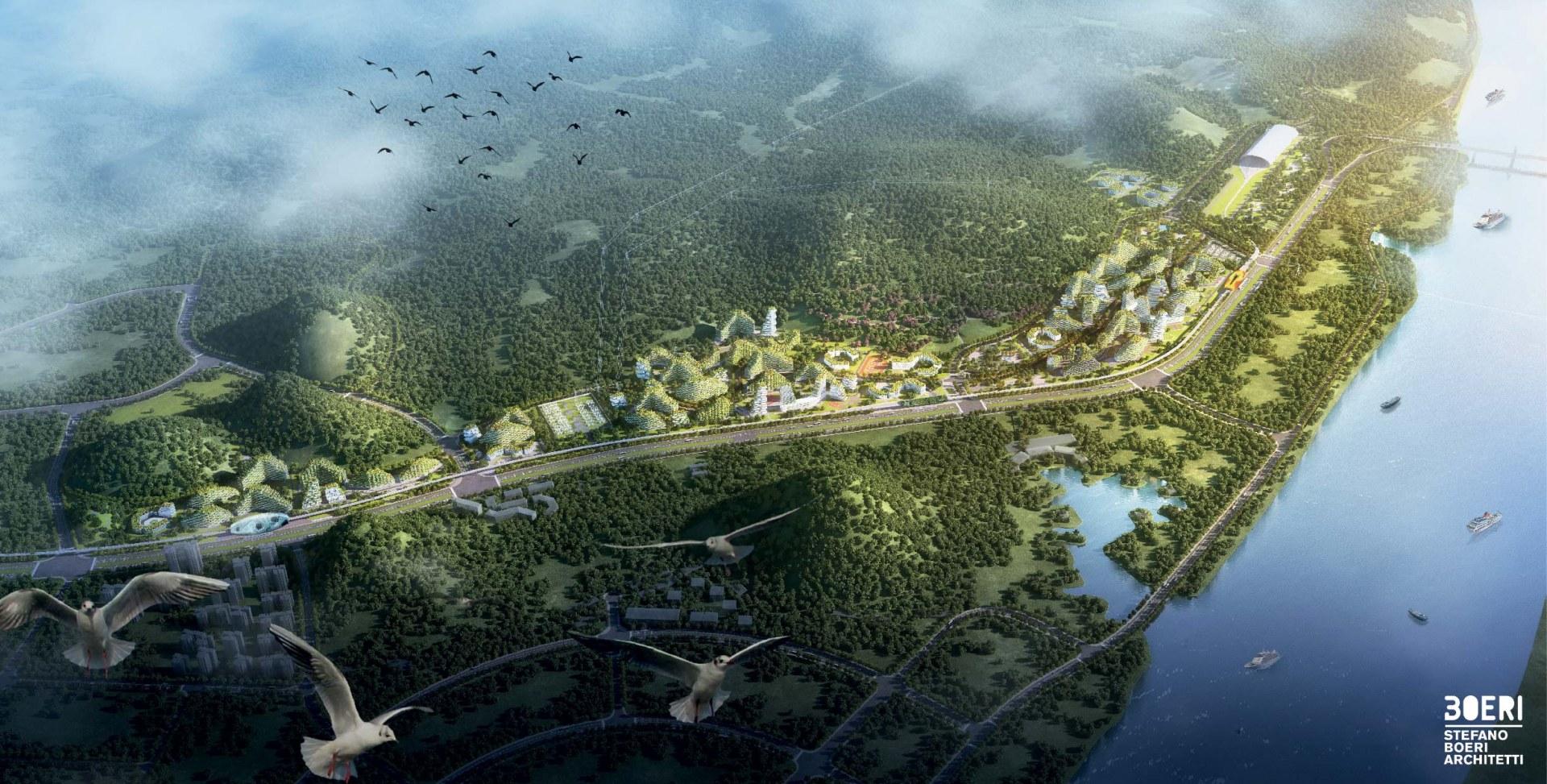 "Liuzhou Forest City ""inghiottirà"" quasi 10.000 tonnellate di CO2 /  Stefano Boeri Architetti"