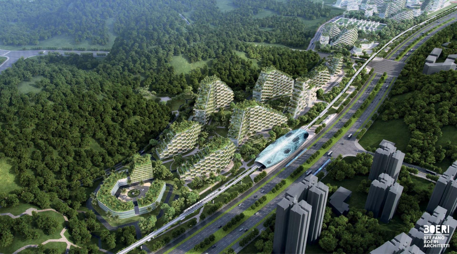 L'enorme complesso residenziale sorgerà a nord di Liuzhou /  Stefano Boeri Architetti