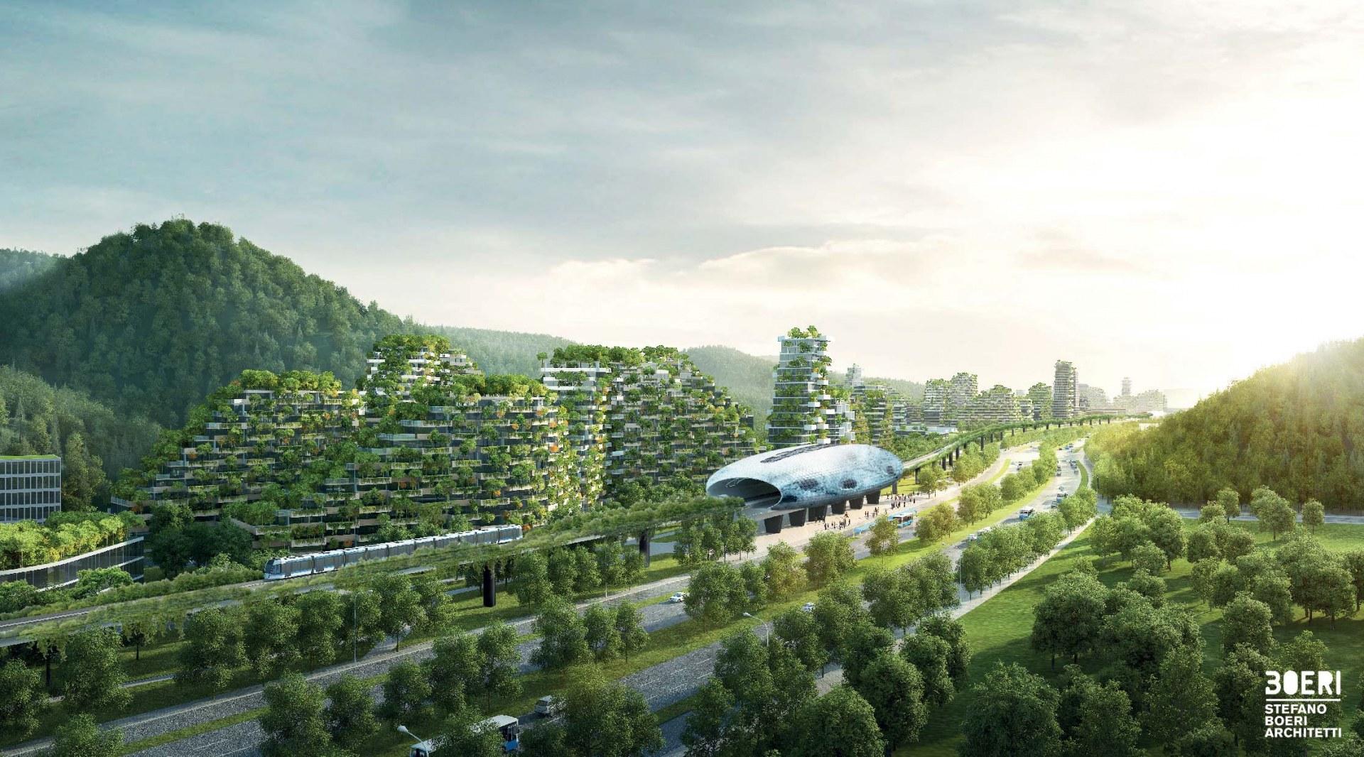 La città è pensata per accogliere 30.000 persone /  Stefano Boeri Architetti