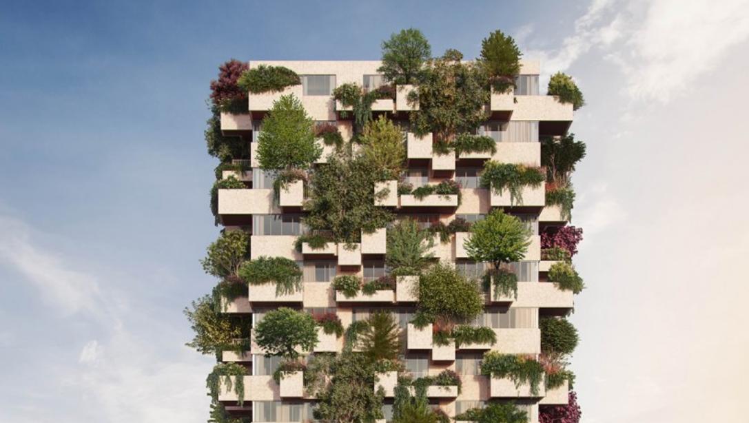 La torre avrà circa 125 alberi, uno per casa /  Stefano Boeri Architetti