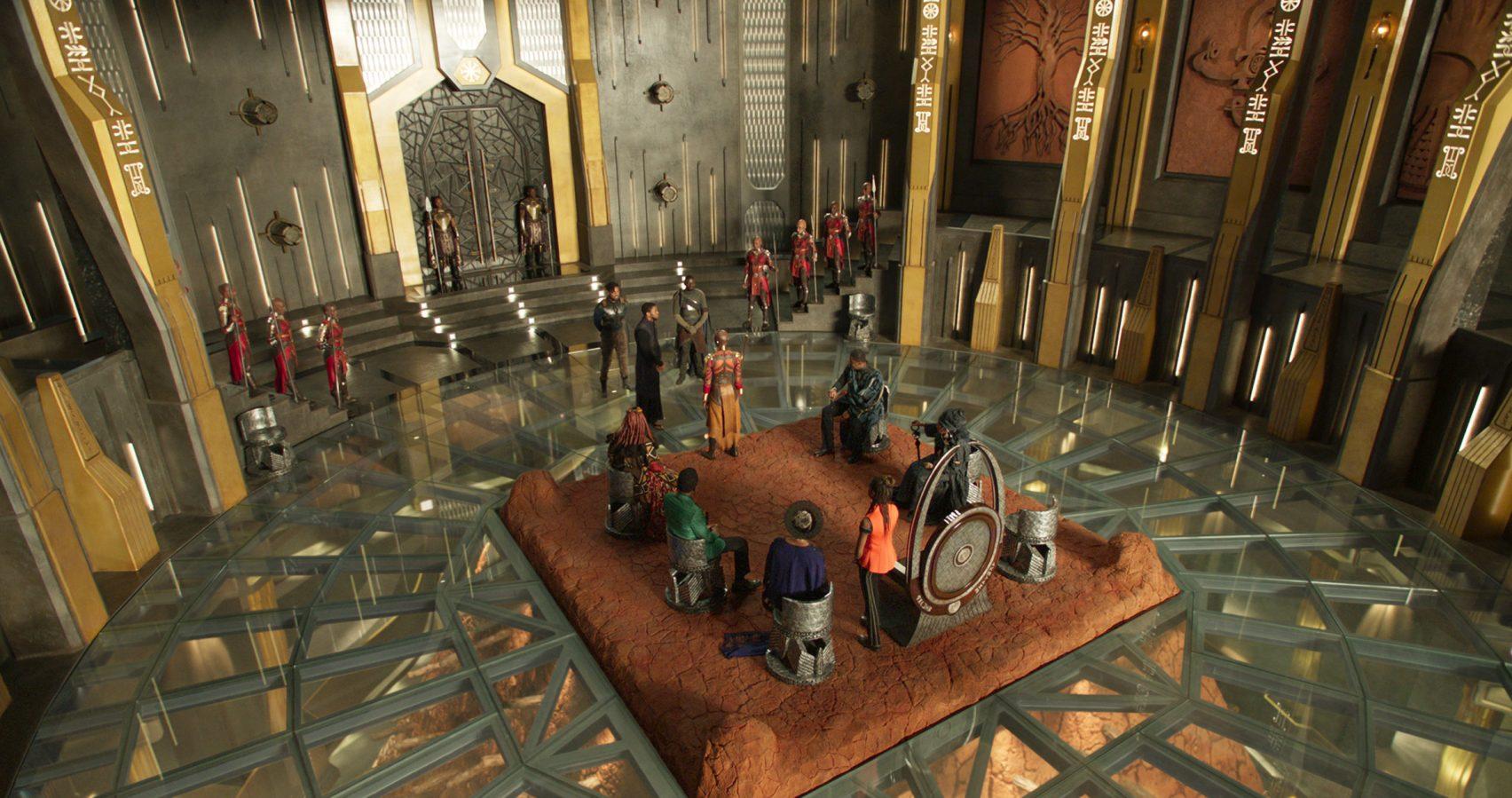 Il palazzo di Wakanda, ispirato a Buckingham Palace / Dezeen