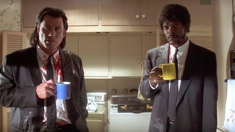 John Travolta e Samuel L. Jackson dopo l'uccicione di Marvin Phil / Miramax