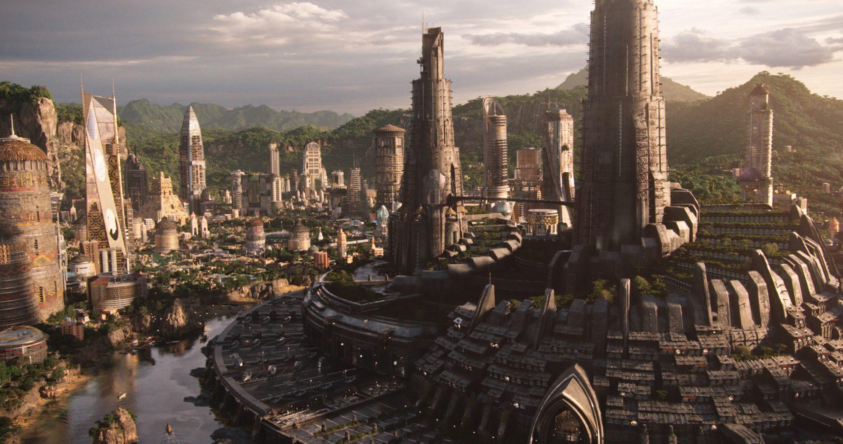 Vista aerea di Wakanda / Dezeen