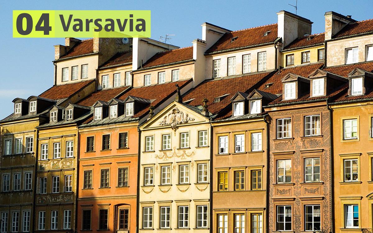 Varsavia (Polonia): 206 euro