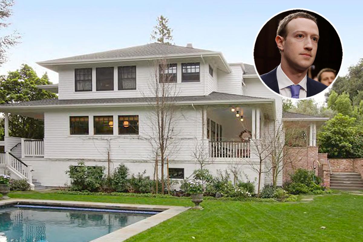 La casa si trova a 10 minuti di auto dagli uffici di Facebook / The backyard