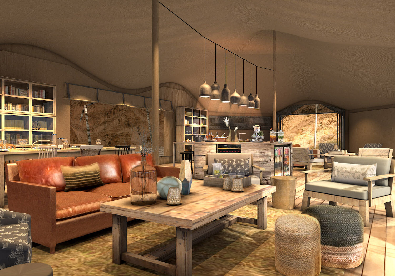 Le tende sono dotate di ogni lusso / Hoanib Valley Camp
