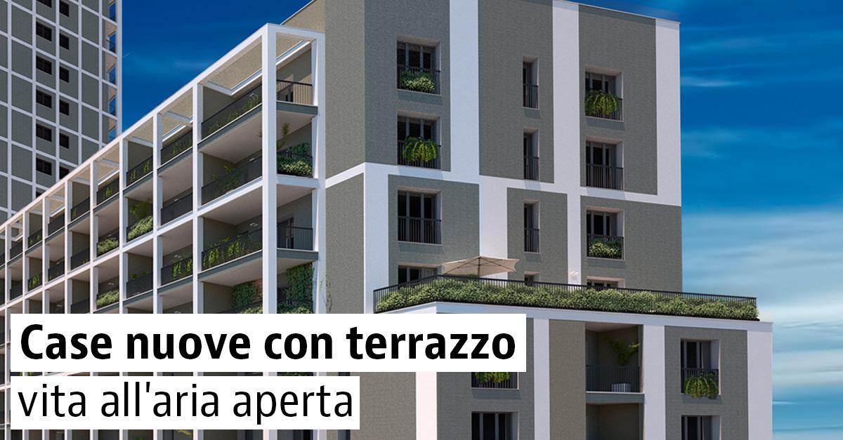 Case nuove con terrazza in vendita