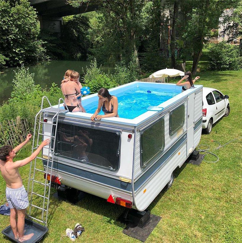 La piscina mobile / Benedetto Bufalino