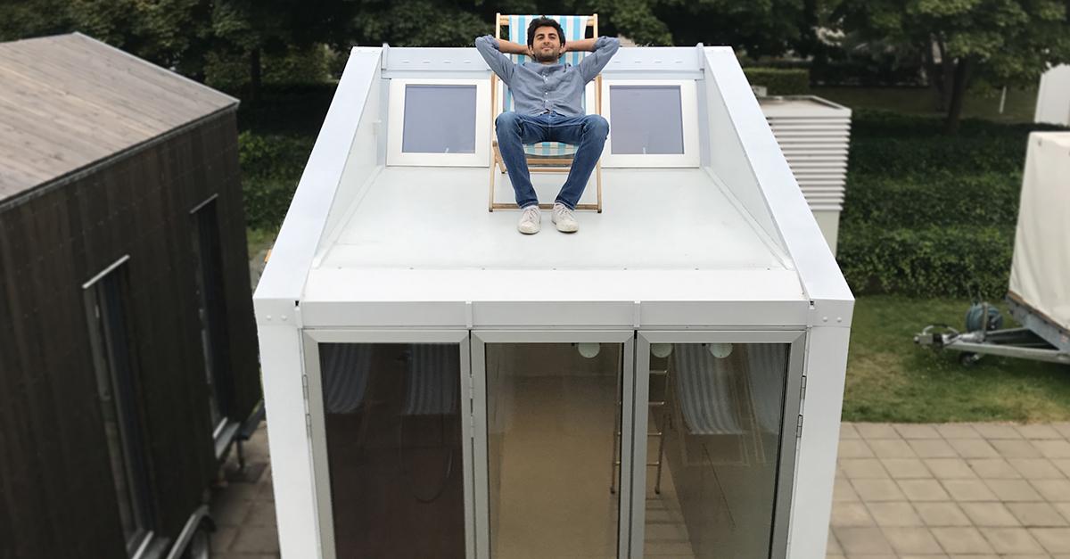 Leonardo Di Chiara sul tetto di aVoid / Anna Fontanet Castillo